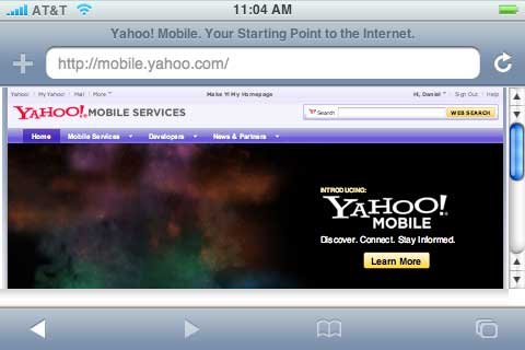 yahoo mobil
