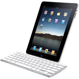 iPad with keyboard dock