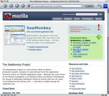 seamonkey project The seamonkey® project the seamonkey project is a community effort to develop the seamonkey all-in-one internet application suite (see below) such a.