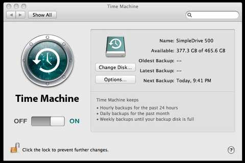 how to make time machine backup external hard drives