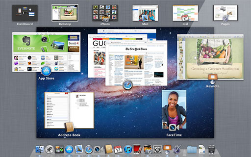 Mission Control in OS X Lion